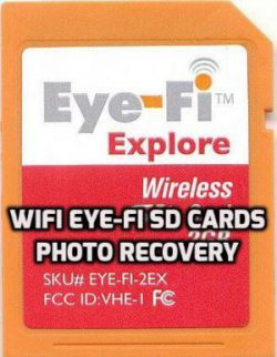 WiFi Eye-fi SD Cards Photo Recovery