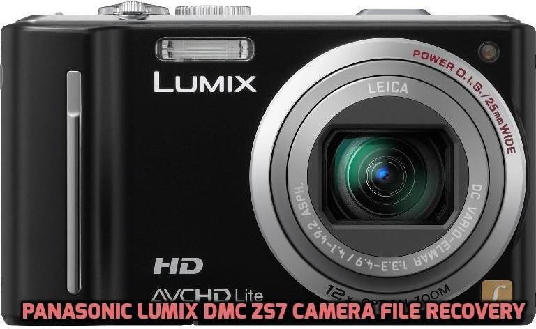 Panasonic Lumix DMC ZS7 cámara de recuperación de archivos