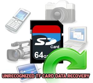 unrecognized TF card data recovery