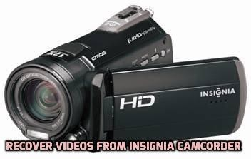 recover videos from Insignia Camcorder