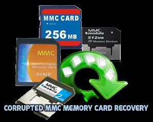 Memoria dañada MMC recuperación de la tarjeta