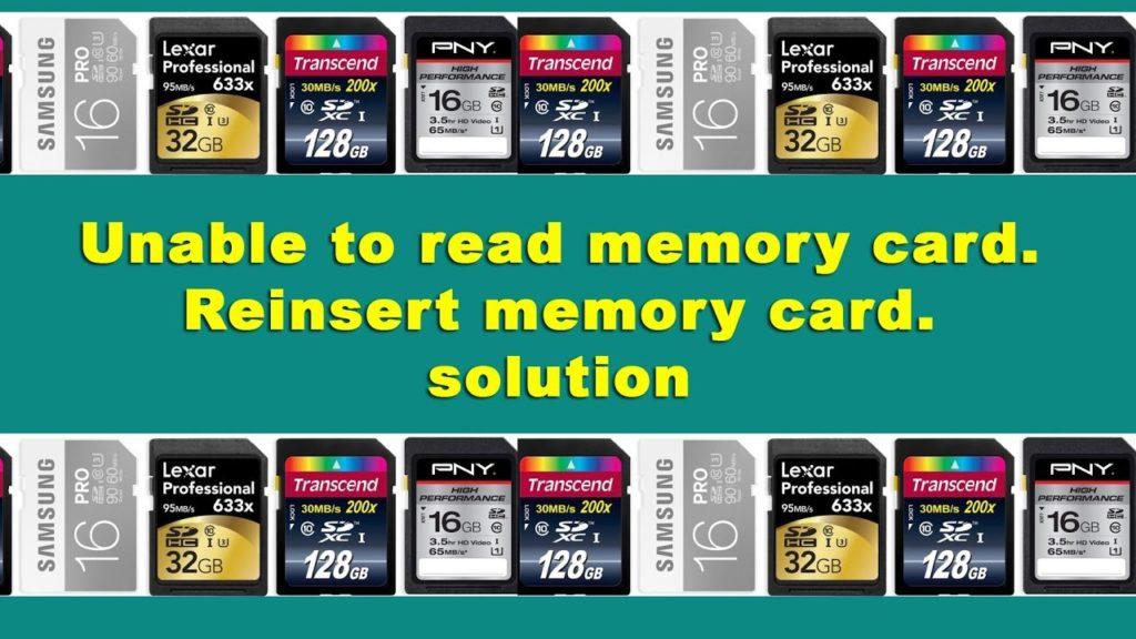 error en tarjeta de memoria camara digital