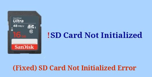 fixed SD Card Not Initialized error
