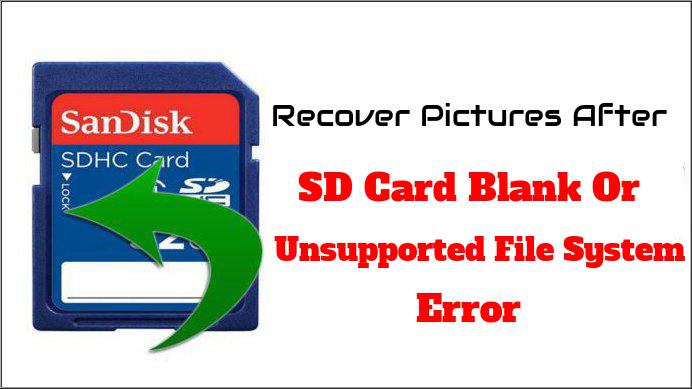 استعادة الصور بعد بطاقة Sd فارغة أو خطأ في نظام الملفات غير معتمد تلف حذف فقدت صور استعادة بسهولة من كاميرا رقمية