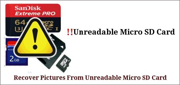 fixed Unreadable Micro SD Card