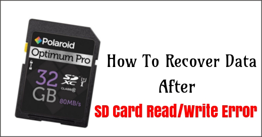 Fix Polaroid SD card read/write error