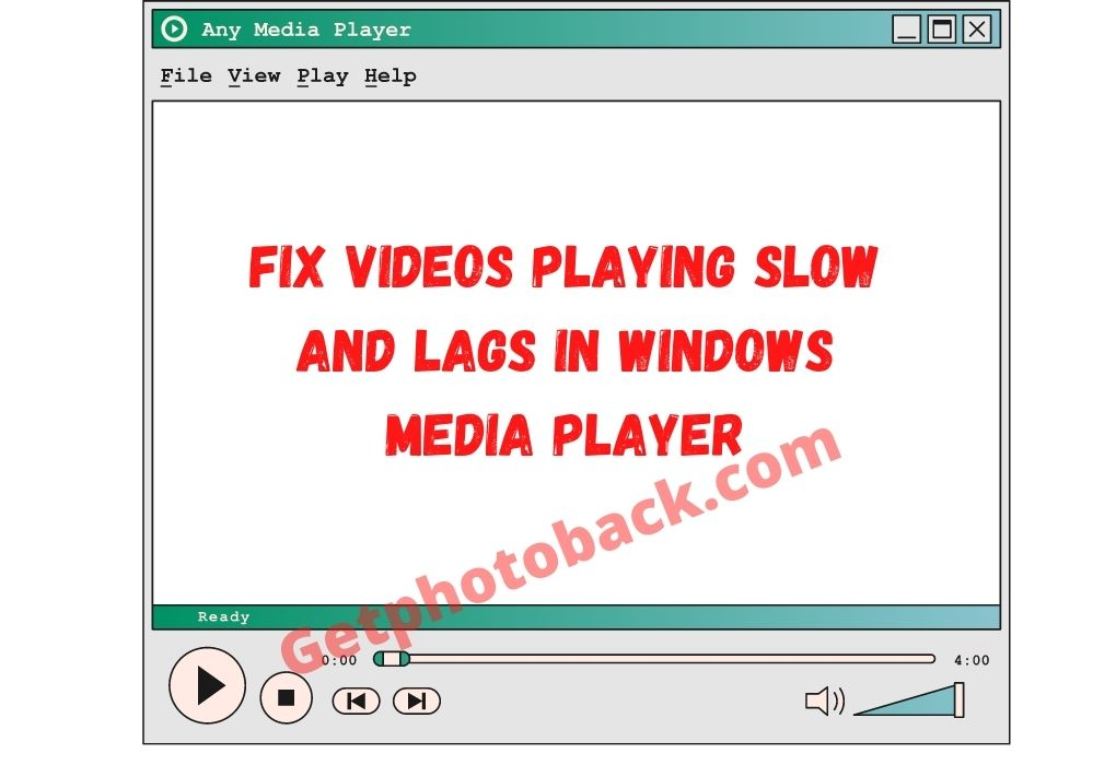 Fix Videos Playing Slow and Lags in Windows Media Player