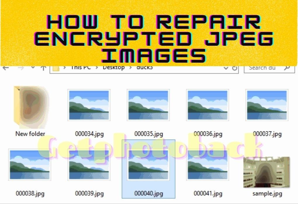 How to repair Encrypted JPEG images